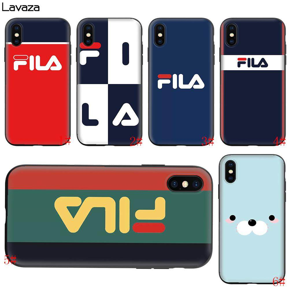 the latest 2c6ec 1324a FILA Soft TPU Silicone Phone Case for iphone 5 5s se, 6 6s, 6s plus,iphone  7 8,7 8 Plus, iphone X XS,Xs max,XR