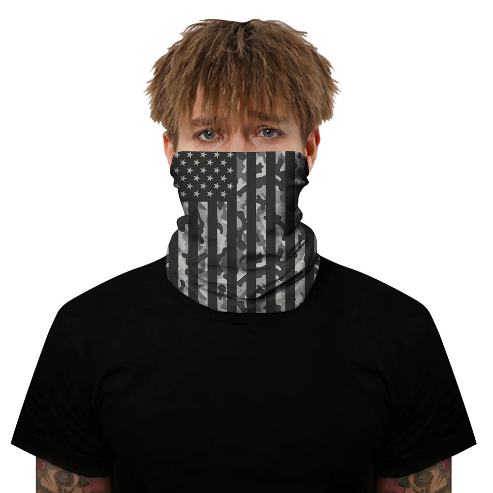Unisex Rave Bandana Neck Gaiter Tube Headwear For Women Men Face Scarf Bicycle Bike Face Shield Mask Riding Neck Gaiter Headwear One Size 5