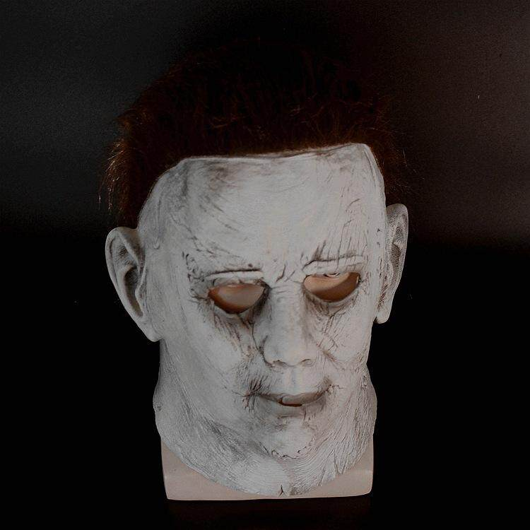 Halloween 2018 Michael Myers Face.Anilnc Michael Myers Mask Halloween 2018 Horror Movie Cosplay Adult Latex Full Face Helmet Halloween Party Scary Prop