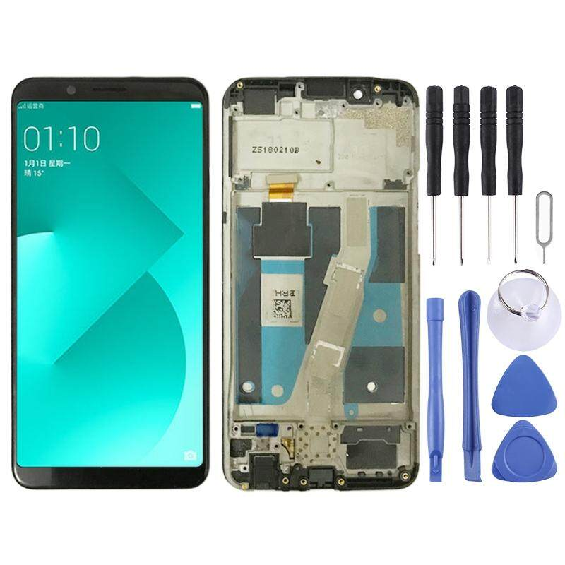 LCD Screen and Digitizer Full Assembly with Frame for OPPO A83 (Black)