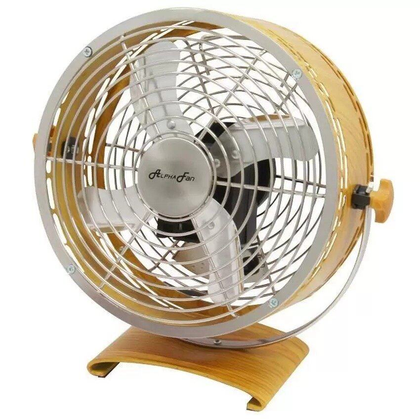 Alpha MDF8 8 Inch Drum Classic Table Fan (Bamboo Color) | Lazada Malaysia