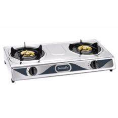 Erfly Stainless Steel Double Burners Gas Cooker Bgc 628