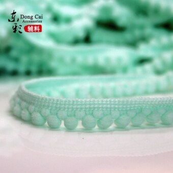 Color teeth edge small pompon fur ball lob curtain tablecloth diy clothing accessories lace decoration skirt skirt