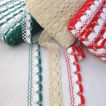 Curtain tablecloth three color wide lace fine cotton lace