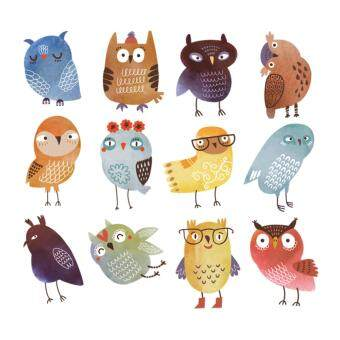 Cute Owl Iron on Patches For Clothes 22*20.7cm A-level WashablePatches