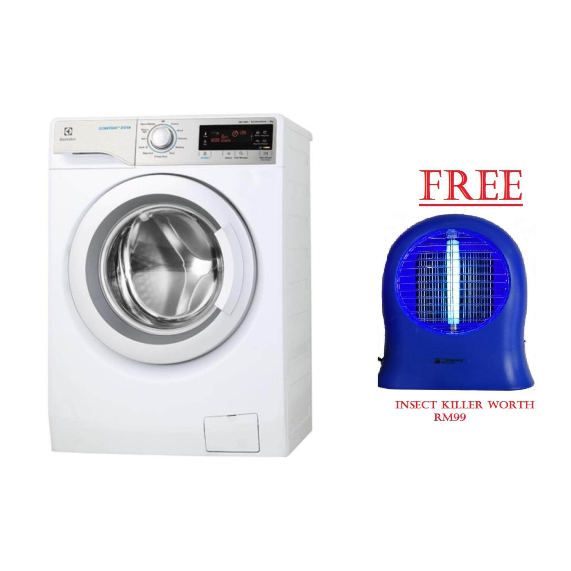 Electrolux Inverter Front Load Washing Machine EWF12933 9KG- free insect  killer