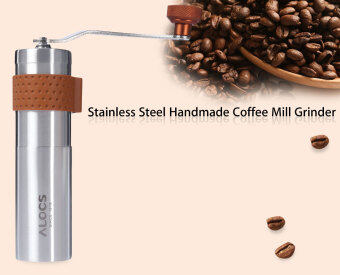 Harga ALOCS Outdoor Travel Handmade Coffee Mill Grinder(Silver)