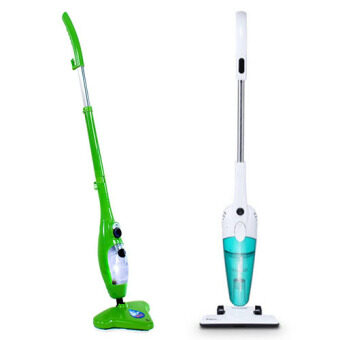 Harga (COMBO) 5 in 1 H2O Steamer Mop + DEERMA DX118C Handheld Ultra-Quiet Vacuum Cleaner