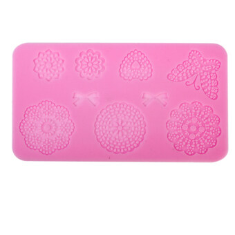 Harga S & F Silicone Fondant Cake Lace Sugar Craft Mat Cake Texture Mold Pink