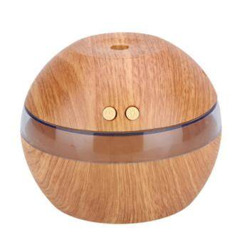 Harga Wooden Pattern Air Aroma Essential Oil Diffuser Led Ultrasonic Aroma Aromatherapy Humidifier Grey