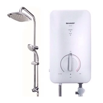 Harga Sharp WHN-11RS Rain Shower Water Heater without pump (white)