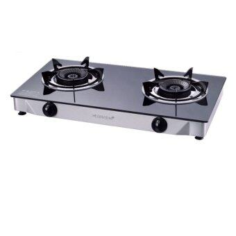 Harga Morgan MGS-8312G Glass Gas Stove (Black)
