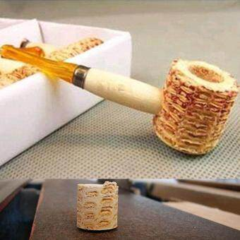 Harga New Natural Corn Cob Gourd-shaped Cigarette Holder Smoking Pipe Tobacco Pipe