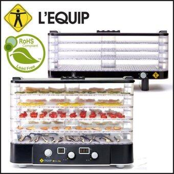 Harga Lequip Korea LD-918CT Transparent Food Dehydrator for Home (Black)