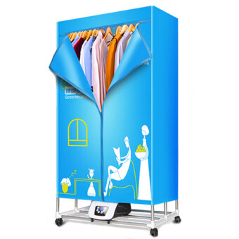 Harga V2S Household Foldable Clothes Dryer 1200W (Blue)