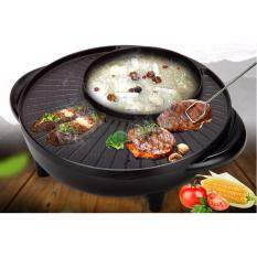 Korean Bbq Style Grill And Steamboat 2 In 1 Round