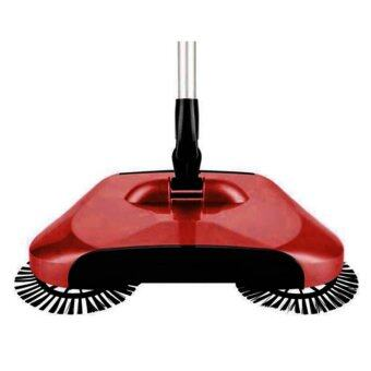 Luxe Household Handheld Automatic Whirlwind 360 Rotation Sweeper WIthout Electricity (RED) - 2