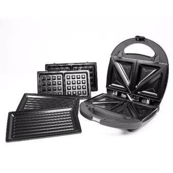 Meck 3-in-1 Waffle Maker, Sandwich Maker & Bbq Heating PlateMSW-3IN1CS Non-Stick Coating