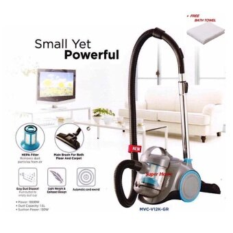 Midea MVC-V12K Bagless Vacuum Cleaner with HEPA Filter(1000W) +Free Gift