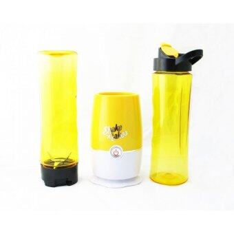 (Msia Power Plug) Shake N Take 3 Beautiful and Colorful Fruit Juice Blender With 2 Bottles (Yellow)