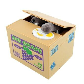 OEM hot Stealing Coin Cat Penny Cents Piggy Bank Saving Box