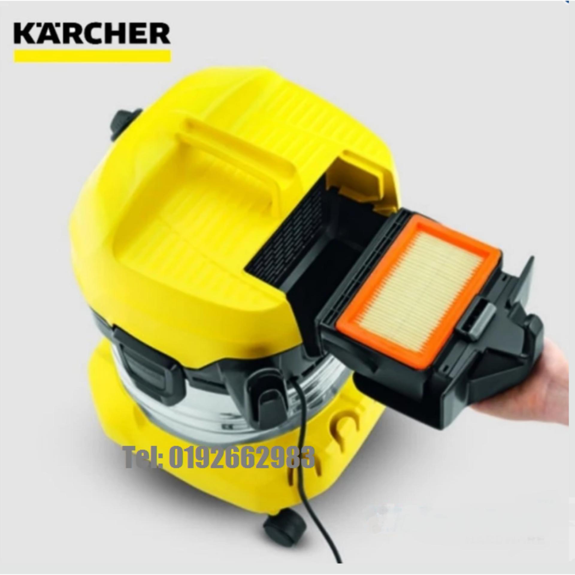 Tawaran Hot Terakhir Original Karcher Wd4 Wet Dry Muiltpurpose Mv 4 Premium Vacuum Cleaner And 20l 1000w Yellow