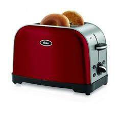 Oster 2-Slice Toaster (Brushed Stainless Steel) Red Image