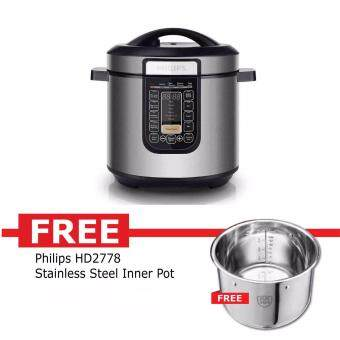 Harga PHILIPS PRESURE COOKER6.0L HD-2137 -*free BOWL WARRANTY BY PHILIPS MALAYSIA