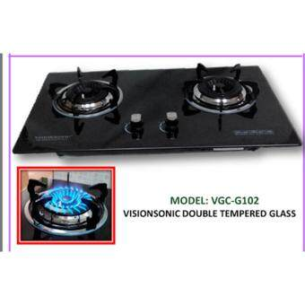 SG TAN Visionsonic Technology Italy Double Tempered Glass Hob withSafety Device