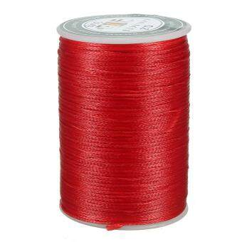 Waxed Thread 0.8mm 78m Polyester Cord Sewing Stitching LeatherCraft Bracelet S049 Red