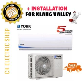 YORK AIR CONDITIONER 2 HP (R410) -YWM3F20CAS / YSL3F20AAS/ FREE DELIVERY & INSTALLATION