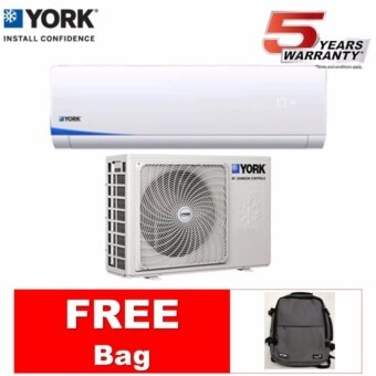 YORK AIR CONDITIONER (R410A) 1 HP YWM3F10CAS-W / YSL3F10AAS (FREE BAG)
