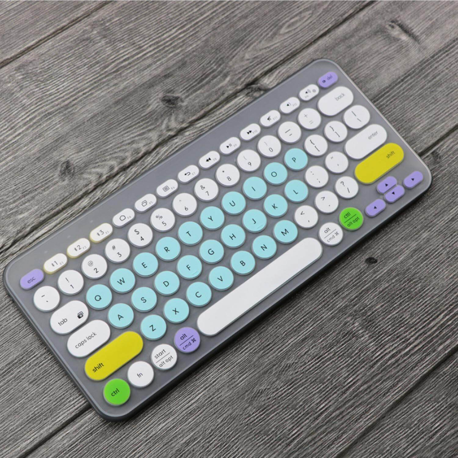Fashion Colorful Laptop Silicone Keyboard Cover Skin Sticker Protector  Compatible with Logitech K380 Bluetooth Keyboard Singapore