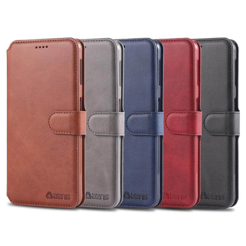 Stylish Cover Compatible with Samsung Galaxy A50 red Leather Flip Case Wallet for Samsung Galaxy A50