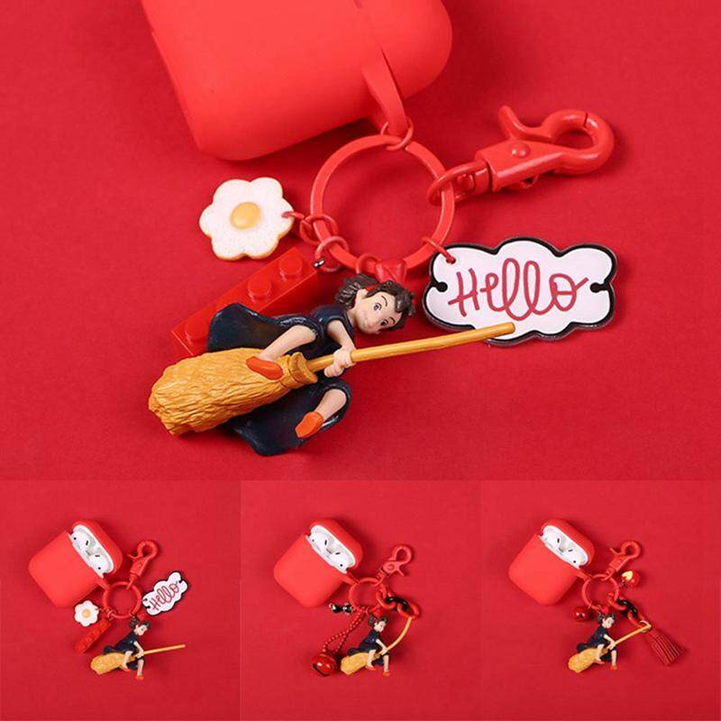 Acagedem Cartoon Witch Key Ring Cute Silicone Case For Apple Airpods  Wireless Bluetooth Earphone Air Pods Accessories Protective Cover
