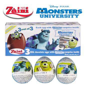 Harga 3 Zaini Eggs Disney Monsters University Chocolate Surprise Toy Joy60G