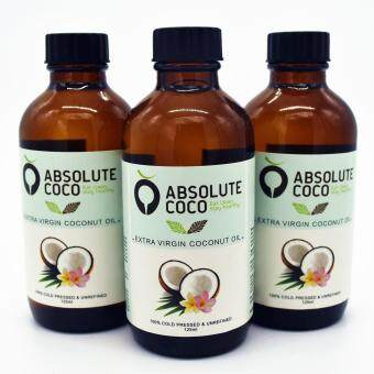 Absolute Coco Extra Virgin Coconut Oil 3 x 125ml