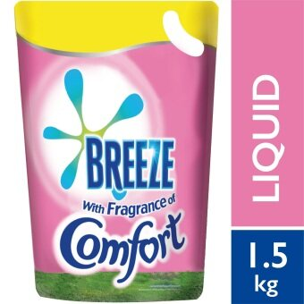 Breeze Detergent Liquid Fragrance of Comfort Refill Pack 1.5 kg