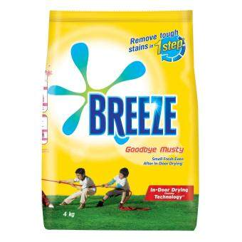 Breeze Detergent Powder Indoor Drying Goodbye Musty 4 kg