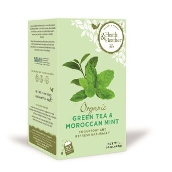 Harga Heath & Heather Organic Green Tea with Moroccon Mint - (20 sachets)