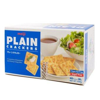 Harga Meiji Plain Crackers Jumbo Pack from Japan - 40 x 26g