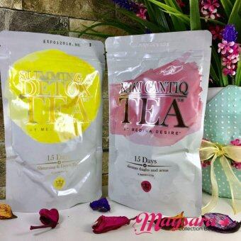 Harga COMBO Set SLIMMING & DETOX Tea + KAKI CANTIQ Tea by MEDINA DESIRE ~ New Packaging