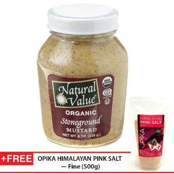 Harga NATURAL VALUE Organic Stoneground Mustard 226g