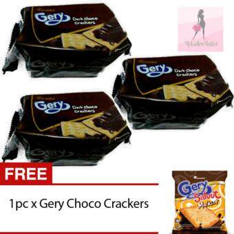 Harga 3 PACKS GERY DARK CHOCO CRAKERS (20G X5PCS) FREE GIFT +FREE POSTAGE