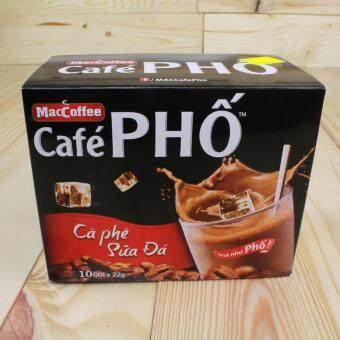 Harga Maccoffee Cafe Pho Instant Milked Coffee Hot Cold Beverage Vietnamese Cofffee (10 packets x 22g)