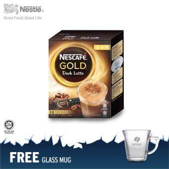 NESCAFE Gold Dark Latte 12 Sticks @RM12.90 FOC glass mug