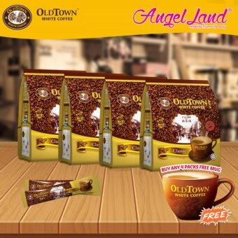 Harga OldTown White Coffee 3 in 1 Instant Premix White Coffee x 4PacksClassic + Free Coffee Mug