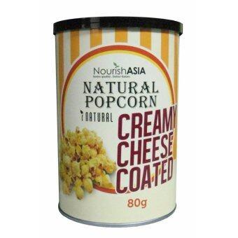 Organic Natural Popcorn Cream Cheese Coated 80g