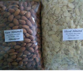 Raw Almond (USA) 1 kg + Sliced Almond 1 kg