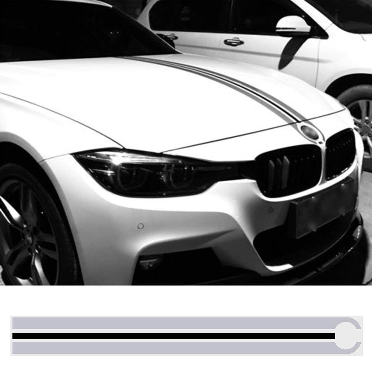 Product details of hood bonnet stripes decals stickers trim for bmw e46 e36 e90 f30 e39 e60 f10 g30 colorgray black